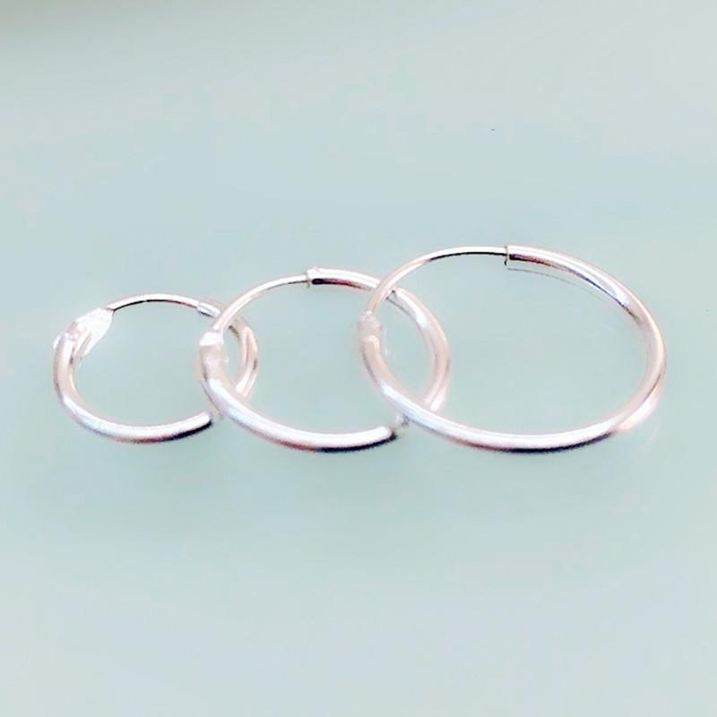 aliexpress buy hoop earrings set real 925 sterling