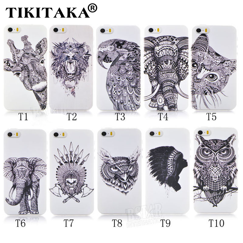 New Style 3D Cases Cute Cartoon Animal world logo giraffe Elephant OWL Phone Case Cover For Iphone 5 5S SE Hard PC Back Cover(China (Mainland))