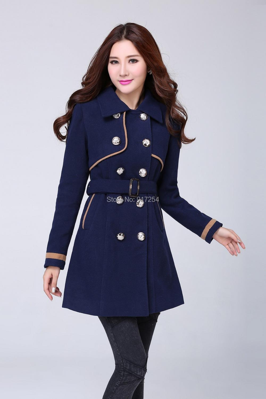 2013 Winter Fashion Medium Long Warm Outerwear Slim Brand Coat Women   Male Models Picture
