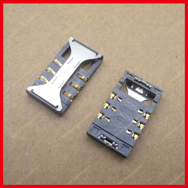 50pcs/lot Brand New SIM card reader connector holder for Samsung for Samsung S5830 S8300C I900 S6700C