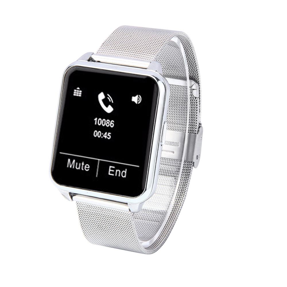 Фотография 2016  New F2 Bluetooth Steel Strip Touch Screen Heart Rate Fitness Tracker Smart Watch 1.55 IPS Screen IP67 Waterproof #ET358