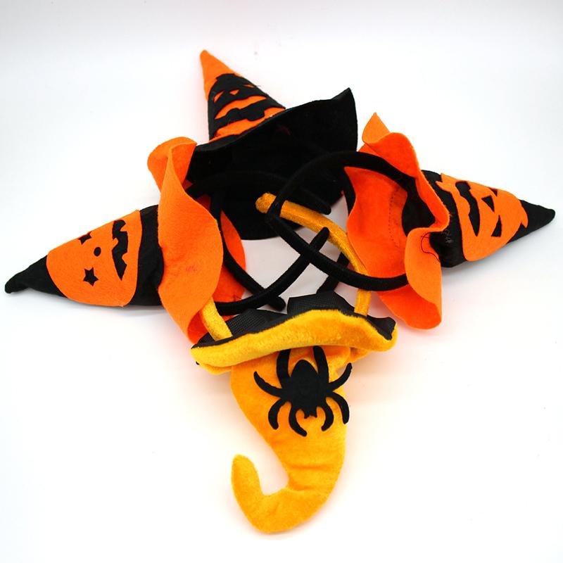 Halloween Children Pumpkin Headband Masquerade Witches Head Ring Spider Witch Hat Hair Bands(China (Mainland))