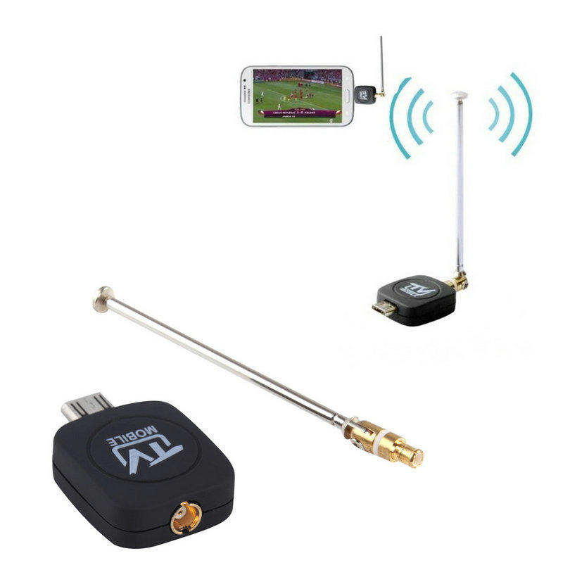 Hot! DVB-T Micro USB Tuner Mobile TV Receiver Stick For Android Tablet Pad Phone High Quality(China (Mainland))