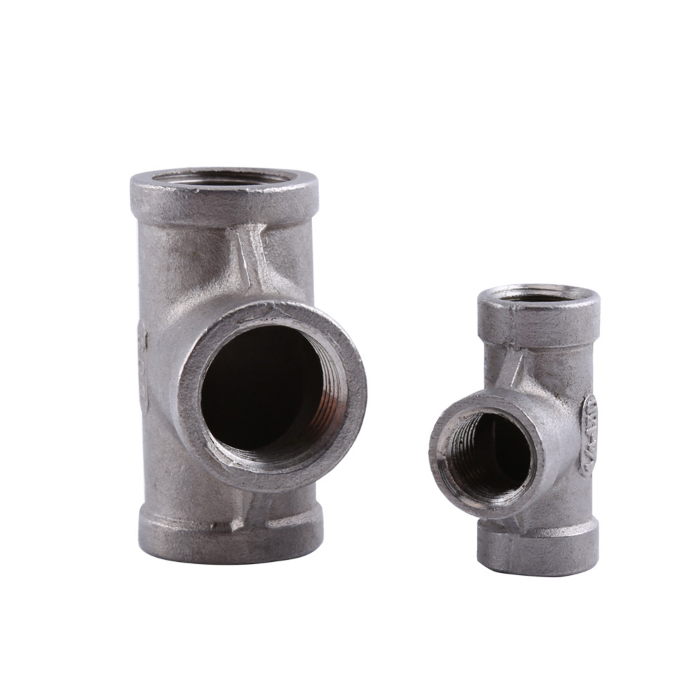 """1 Pcs Tee 3 way Female Threaded Pipe Fittings Stainless Steel SS 304 (1/4"""" 37mm and 1/2"""" 52mm Optional)(China (Mainland))"""