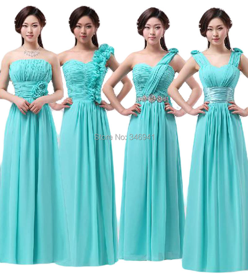 Winter fall womens chiffon long dress bridesmaid dresses for Winter wedding colors for bridesmaids dresses