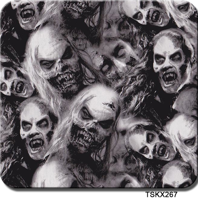 Free shipping 0.5mX2m zombie pattern hydro transfer printing CSKX267 water transfer film for car(China (Mainland))