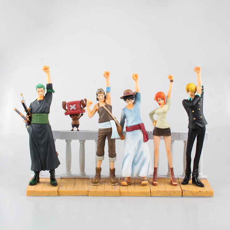 One Piece New World Anime Figuarts 6PCS/SET Scene Desert Memories Movie Luffy Nami Action Figure PVC Boxed Limit Model 0653(China (Mainland))