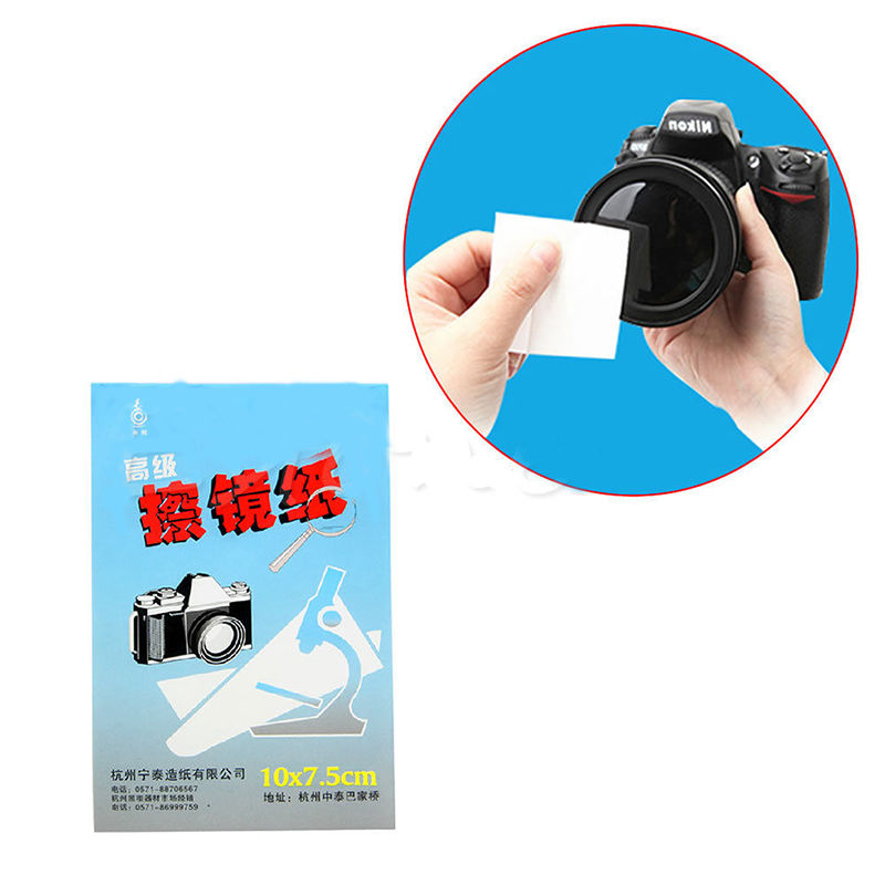 5X 50 Sheets Soft Camera Lens Optics Tissue Clean Paper Wipe Booklet White Hot(China (Mainland))
