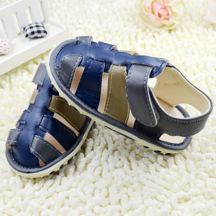 New Arrival,Retail Rubber Design Soft Bottom Anti-slip Cotton Baby Shoes Cute Kids Sandals Toddler Boy Kids(China (Mainland))