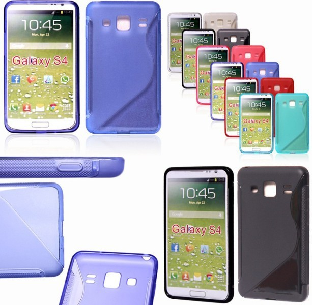 Abrasion TPU Skin Soft Gel Case Cover for Samsung Galaxy S4 i9500 6 Colors Wholesale 50pcs/lot Free shipping