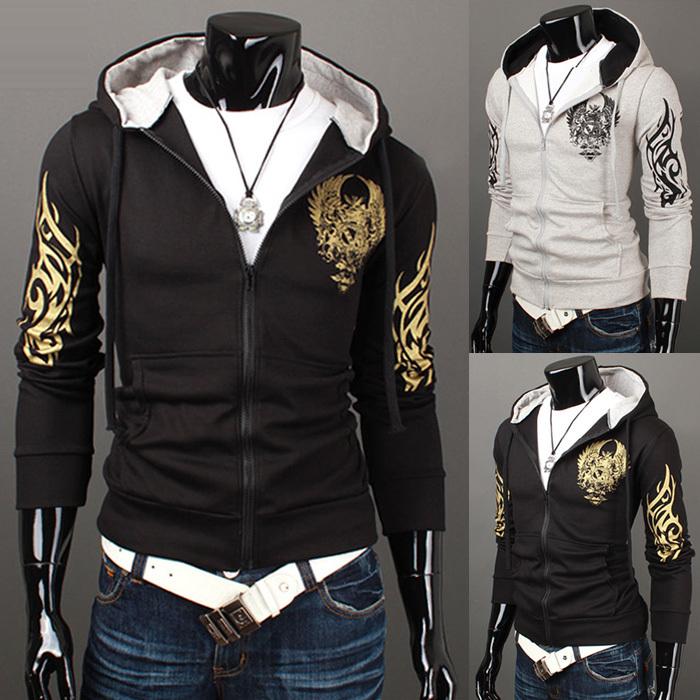 2015 весной новый дизайнер мужской с длинными рукавами с капюшоном орел толстовка, Мужская открытый куртки толстовки м ~ XXL
