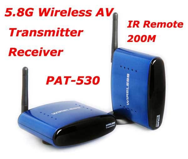 Hot sale PAT-530 5.8G Wireless AV TV Audio Video Sender Transmitter Receiver IR Remote for IPTV DVD STB DVR free shipping Brazil(China (Mainland))