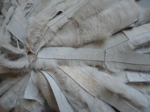 factory wholesale price rabbit fur stripe for garment OEM SERVICE(China (Mainland))