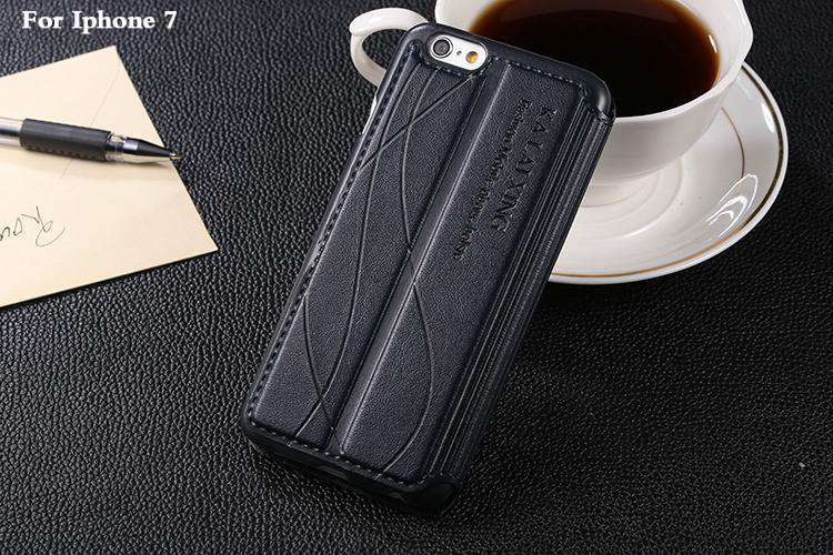 flip case for apple iphone7 iphone 7 / 7 plus 7plus case by luxury brand leather original back cover phone cases Holder Stand