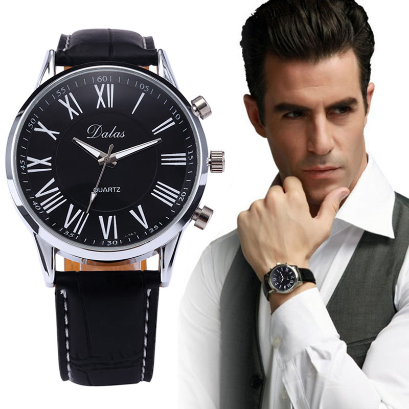2016 Men Fashion Casual Watches Sports Leather Watch Mens Military Watch Male Wristwatch Clock Relogio Masculino Hombre Montre<br><br>Aliexpress