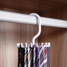 Adjustable Hooks Rotating Belt Scarf Rack Organizer Men Neck Tie Hanger Holds free shipping  MD056