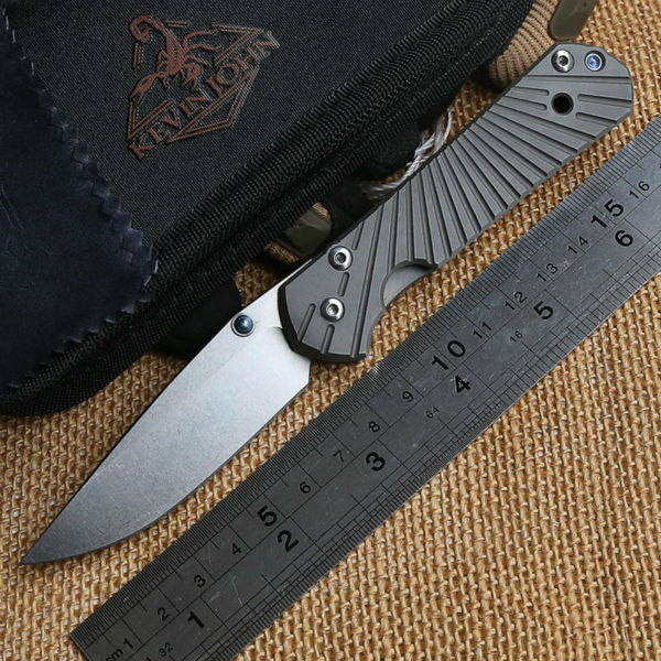 KEVIN JOHN Chris Reeve small Sebenza 21 titanium handle 12C27 blade Folding knife camp hunt outdoors pocket survival knives Tool(China (Mainland))