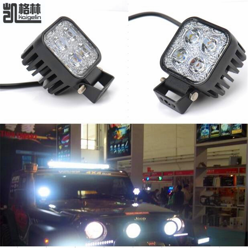 2PCS 12W Car LED Offroad Work Light Bar for Jeep 4x4 4WD AWD SUV ATV Golf Cart 12v 24v Driving Lamp Motorcycle Fog Light(China (Mainland))