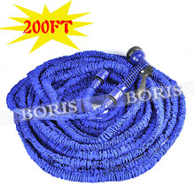 Garden hose Stretched 52.5M hose watering 200FT Blue Magic Expandable 3Times Garden Supplies Water Hose with Spray Gun(China (Mainland))