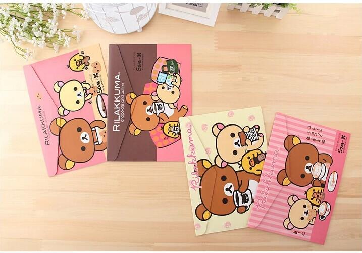 New cartoon bear paper A4 documents file bag / cartoon File folder / stationery Filing Production / fashion gift(China (Mainland))