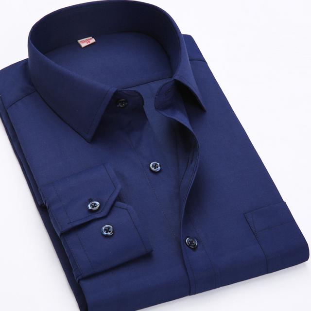 2016 Большой размер США 4XL 5XL 6XL Классический Дизайн Хлопок Мужчины платье Рубашки ...