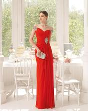 A-Line Shoulder Beaded Evening Dresses Indian Formal Gown Long Chiffon Floor Length China - ailsa elsa's store