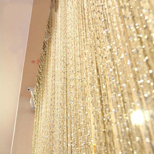 Гаджет  New Tassel Silver Silk String Curtain Window Door Divider Sheer Curtains Valance Free Shipping 2015 Hot Selling None Дом и Сад