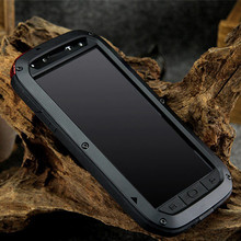 For Samsung Galaxy S4 i9500 Original case Dirt Waterproof Love Mei Metal Aluminum Powerful Phone Cases with Gorilla Glass