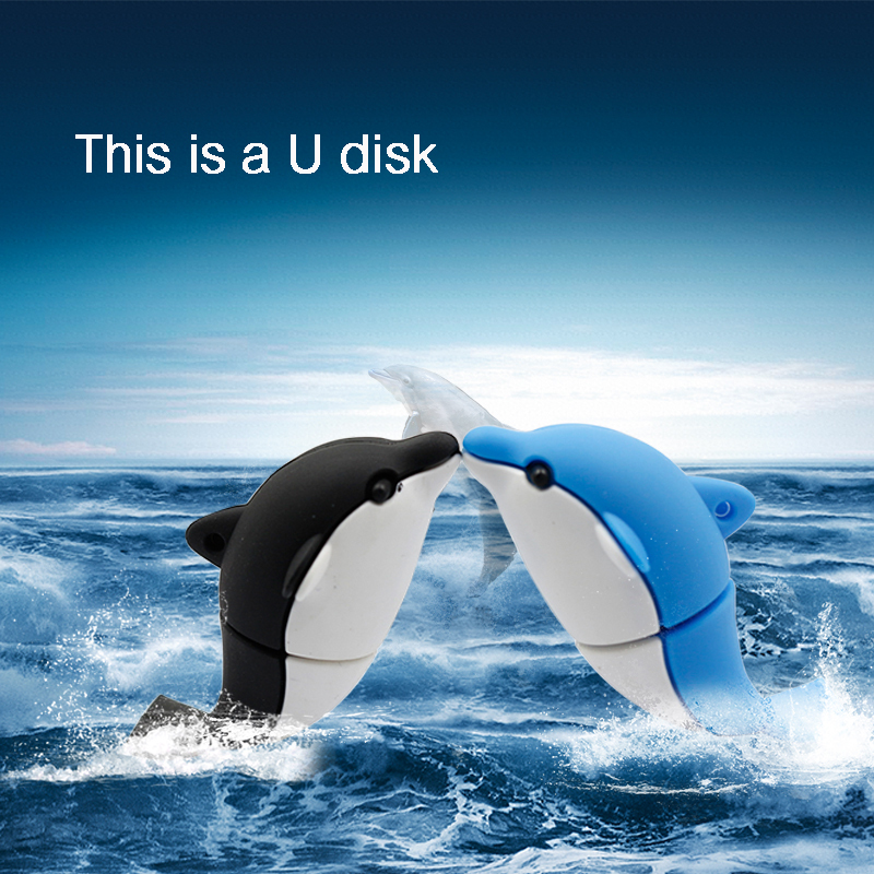 Hot Sale Usb flash drive 4g/8g/16g/32g usb stick Dolphins cute Model Promotion price Surprise gift usb memory stick freeshipping(China (Mainland))
