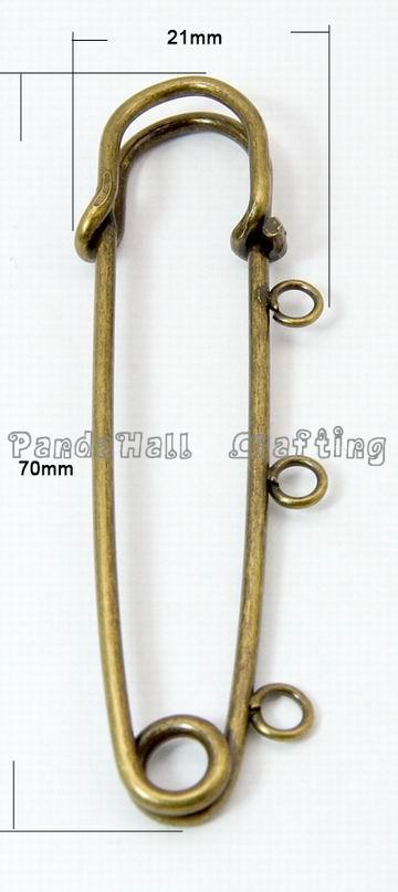 Antique Bronze Iron font b Kilt b font Pin Brooch Pin Findings about 70mm long 21mm