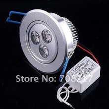 High power Dimmable 3W 3x1W LED down lighting Free Shipping(China (Mainland))