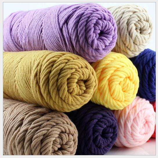 500g/lot Choose Color Thick Yarn Cotton And Skincare Velvet Silk Cotton Thick Hand Knitting Scarf Coat Yarn For Hand Knitting(China (Mainland))