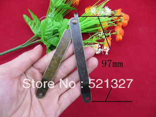 Large 97 * 11MM support brace hinge antique wooden legs are hinged angle gift boxes(China (Mainland))
