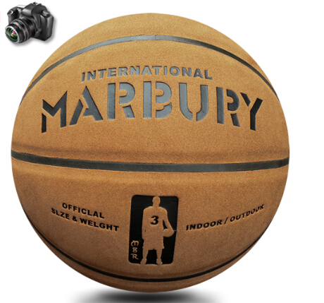 600g quality TF-1000 Genuine suede leather brown color Skidproof No.7 standard basketball ball(China (Mainland))