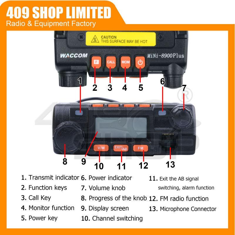Новый! Скремблер мини двухстороннее радио мобильный трансивер WACCOM MINI-8900 плюс 136 - 174/400 - 480 мГц трансивер мобильный трансивер