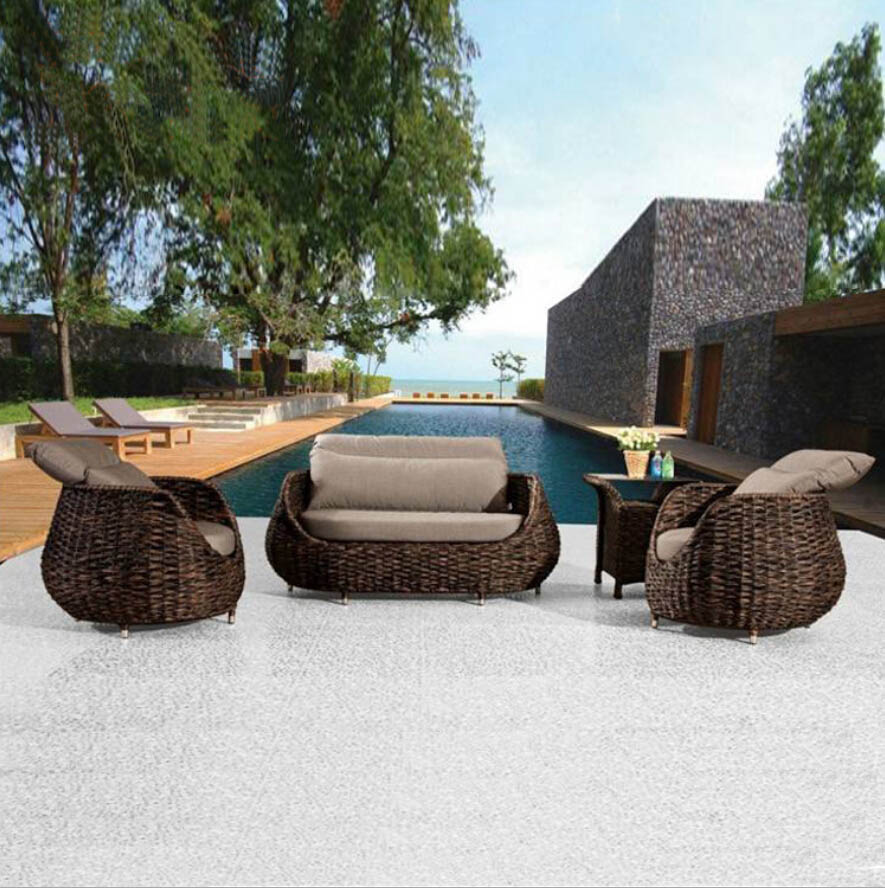 Webetop Outdoor Rattan Furniture Set Garden Furniture New Rattan Furniture Patio Furniture Lounge Tea Table Wicker Cushioned(China (Mainland))