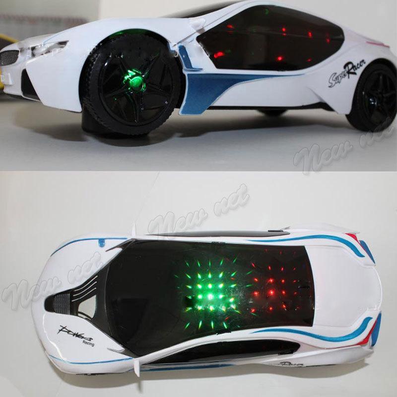 3D toy cars stunning lighting electric toy car 2 i8 model brinquedos juguetes kids toys miniatura carro(China (Mainland))