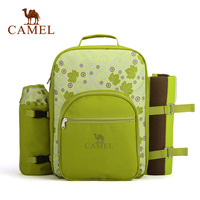 Camel 2014 outdoor picnic bag double-shoulder hiking backpack tableware meal package mountaineering bag a4s2e1001
