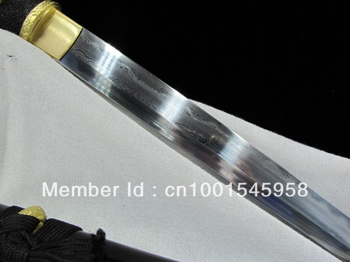 Longquan sword hundred steel blade knife pattern steel katana sword martial arts art manual Gifts sword