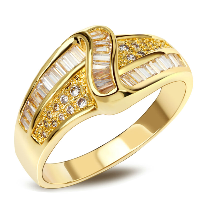 Women accessories rings 2016 Zircon ring lots Sparkly Zircon Ring with gold 18k Plate AAA Machine Cutting Zirconia(China (Mainland))