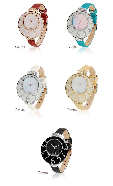 Леди женщина наручные часы кварц оболочки часов лучший мода платье корея кожаный браслет группа мороженое голубой девушка подарок на день рождения 504