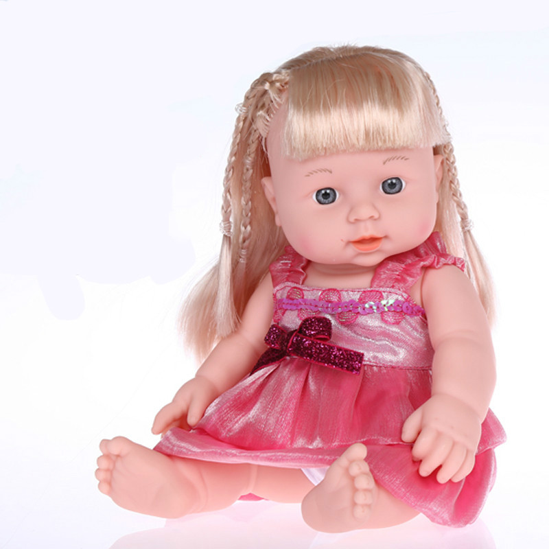 Reborn Baby Doll Children Talking Princess Dolls Lifelike Soft Silicone Reborn Toys Washed Soft Toys Girl Doll 30 Cm High(China (Mainland))