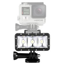 Waterproof High Power Dimmable LED Video POV Flash Fill Light Night Light for GoPro Hero 4 3+ 3 for xiaomi Yi Action Camera