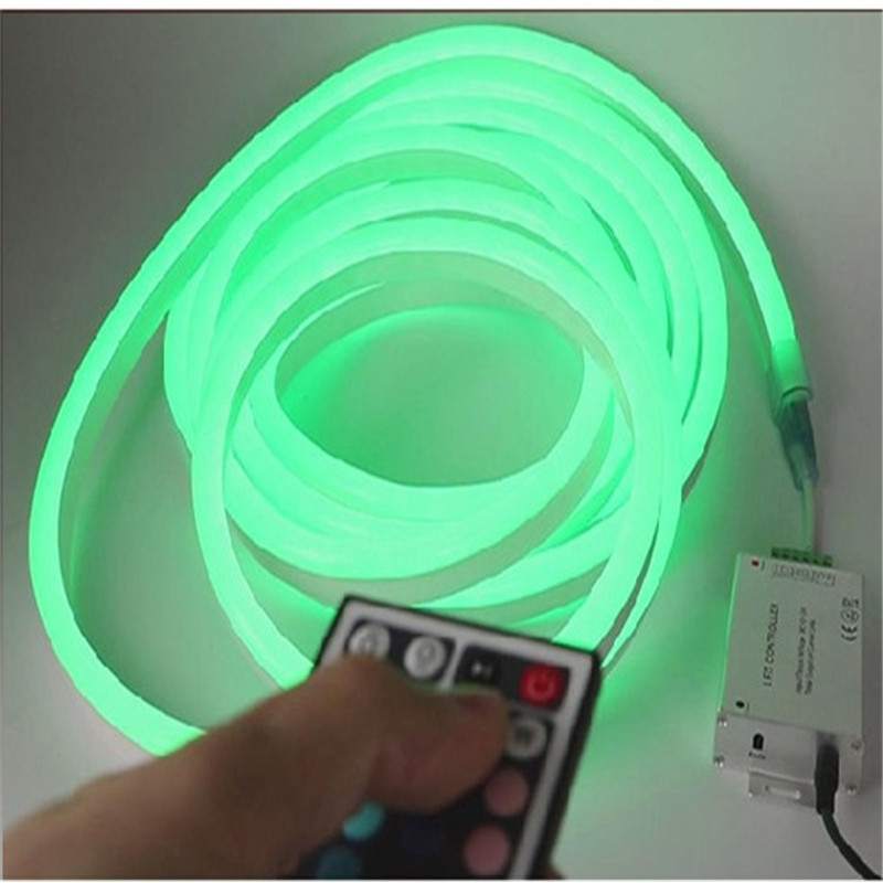 200-240VAC 10m/roll remote control RGB Neon flex tube ,5050 72 led color changing neon tape light for decoration and holiday(China (Mainland))