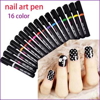 16 цвета ногтей для 3D ногтей DIY украшения-бесплатная лак для ногтей перо комплект ...