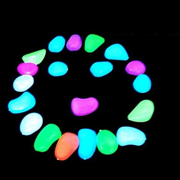 Гаджет  10 pcs Luminous Light-emitting Artificial Pebble Stone Fish Tank Aquarium Decoration BS88 None Дом и Сад