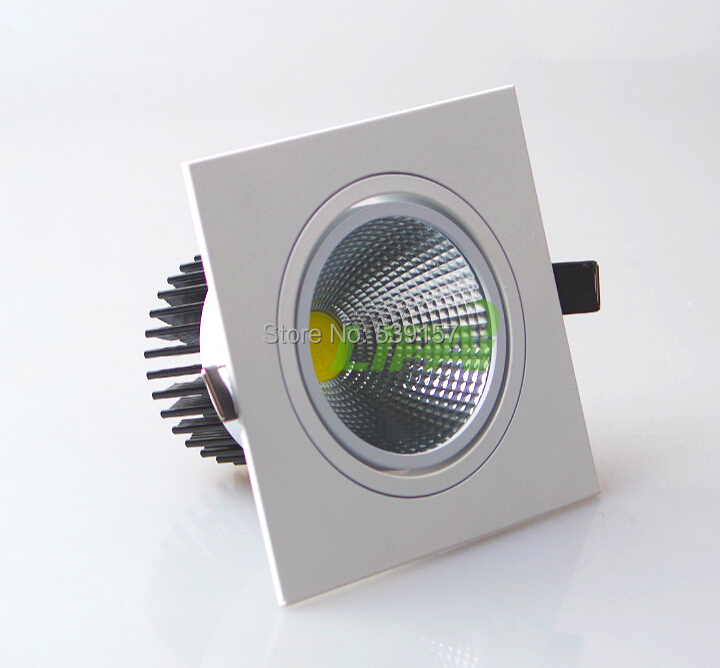 free shipping 10W/15W square model dimmable COB LED down light,spot light,led bulbs 90-100lm/w high brightness,3 years waranty(China (Mainland))