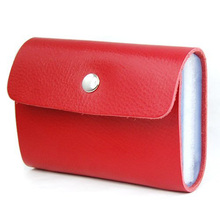 Shopping Time! Red Premium Leather Wallets Credit Card Holder ID Business Case Purse Unisex(China (Mainland))