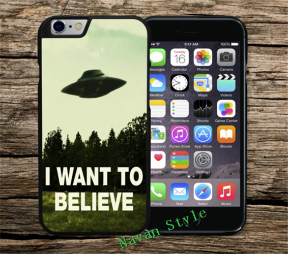 I Want To Believe Aliens Sci-Fi UFO case cover for iphone 4 4s 5 5s 5c 6 6s plus for samsung galaxy S3 S4 S5 S6 S7 note 2 3 4(China (Mainland))