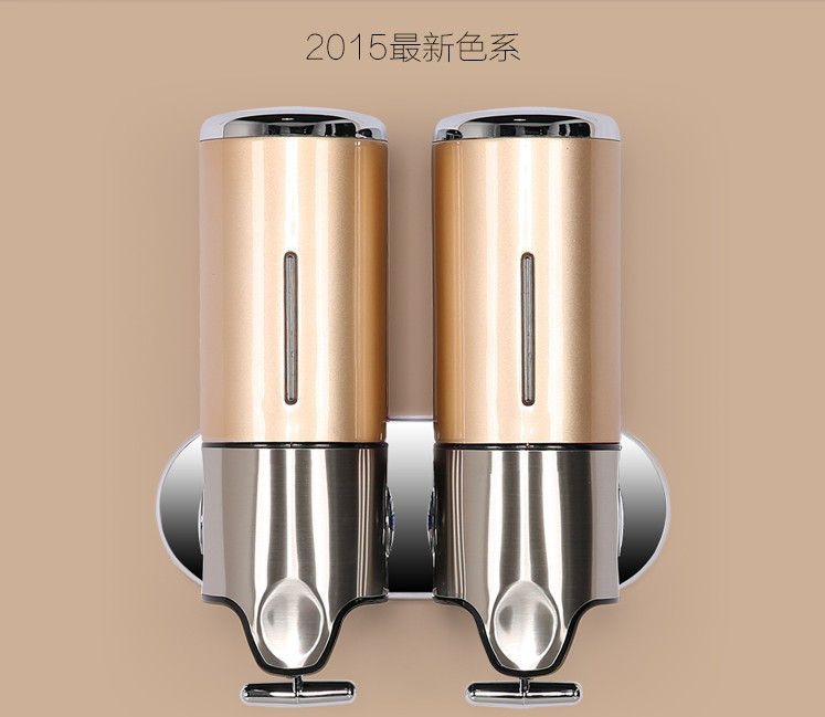 New Stainless Steel Double Liquid Soap Dispenser Soap Dispenser For Kitchen Bathroom Home Free Shipping(China (Mainland))